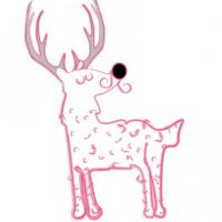 Chlupatý jelen